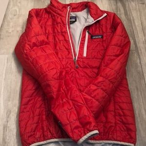 Patagonia Red Nano Puff Pullover Jacket